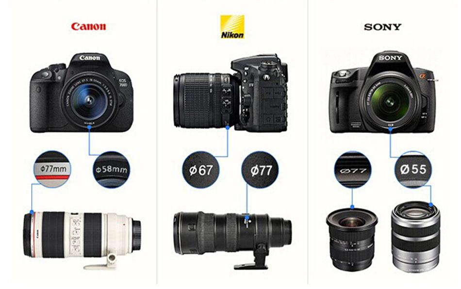 K&F CONCEPT HD 0.35x 58mm/52mm Fisheye Macro Wide Angle Lens for Canon EOS 700D 650D 600D 550D Rebel T5i T4i T3i T2i DSLR Camera 2