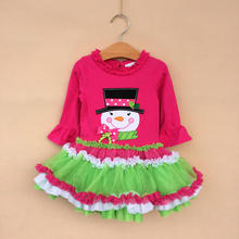 2016 Christmas Dress Dress Christmas Infantil Original Single Rare Editions In The Size Of Children Wear Girls Autumn Snowman(China)