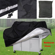 BBQ Cover Black Waterproof BBQ Accessories Grill Cover Anti Dust Rain Gas Charcoal Electric Barbeque Grill S-XL