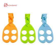 3 colors quality convenient safey children baby food scissors kitchen food mill feeding toys care products(China)