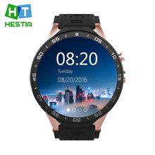 HESTIA 2017 Kw88 android 5.1 Smart watch Phone Gravity Sensor Pedometer 1.3GHZ ROM 4GB RAM 512MB 1.39 inch Screen with 2.0MP cam