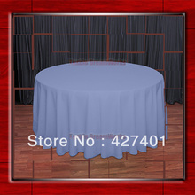 "120""R Periwinkle 210GSM Polyester plain Table Cloth For Wedding Events & Party Decoration(Supplier)(China)"