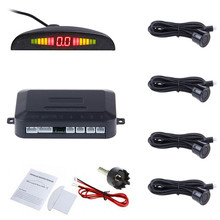 Car LED Display Parking Sensor Kit Multi-Color 4 Sensors Reverse Backup Radar System For Most Cars(China)