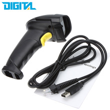 USB Barcode Scanner Long Laser Barcode USB Port CCD Handheld Barcode Scanner Bar Code Reader for POS P2P freeshipping