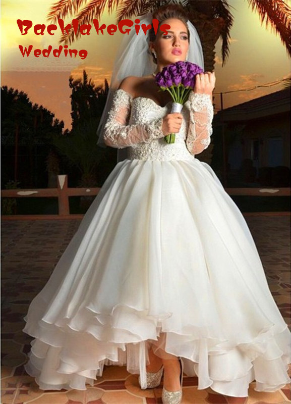 High Low Country Wedding Dress Plus Size Promotion-Shop for ...