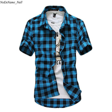 Buy Red Black Plaid Shirt Men Shirts 2017 New Summer Fashion Chemise Homme Mens Checkered Shirts Short Sleeve Shirt Men Cheap for $8.96 in AliExpress store