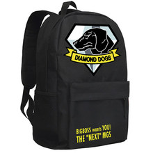 Metal Gear Solid 5 Backpack Diamond Dogs Bag Anime Oxford Schoolbag