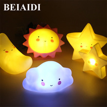 BEIAIDI Cute Bird USB Rechargeable Children Night Light  RGB Christmas LED Light Silicone Touch Sensor Bedside Lamp with Remote