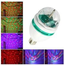 NEW E27 3W Colorful Auto Rotating light 85-260V Bulb Stage Light Party Lamp Disco MIni RGB LED Nightlight(China)