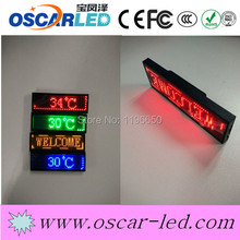 latest electronic product in market single red decorative name badges unique name badges led name badge for hotel / nightclub
