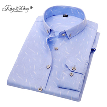 DAVYDAISY Men Shirt Turn Down Collar Long Sleeved Floral Printing Slim Fit Brand Clothing Casual Shirt Man DS101(China)