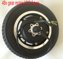 10inch DC BRUSHLESS Motor gear/gearless with tyre 36v/48v 400w-600w For electric bicycle scooter pedal scooter folding bike