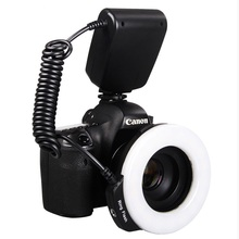 Aputure LED Macro Ring Flash light Macro flash for all models SLR cameras +4 Diffusers  Trigger photoflash lamp strobe light