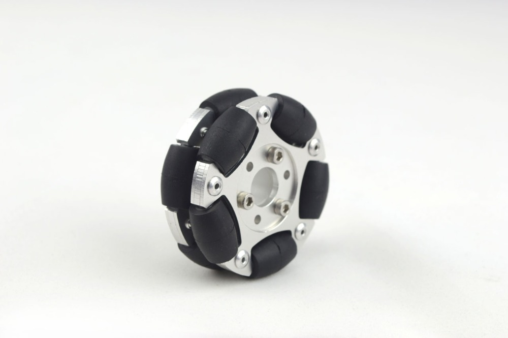 60 mm double aluminum robot competition wheel (Omni) 14145<br>