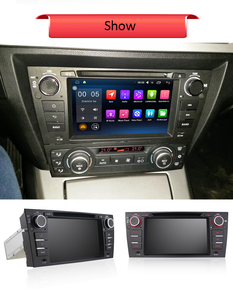 2GB RAM 32G ROM Android 6.0 Car Radio Multimedia Player for BMW E90 Saloon(2005-2012) GPS Navi BT SWC WiFi DVR, Support OBD DAB+