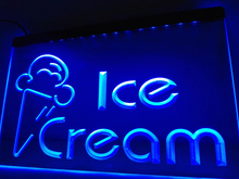 LB462- Newest Ice Cream  Cafe Logo   LED Neon Light Sign     home decor  crafts
