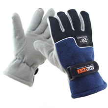 2017 Thermal Motorcycle Ski Snow Snowboard Gloves Men Winter Warm Fleece Polar Fleece Guantes Gloves 12 Colors(China)