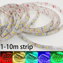 Super Bright LED strip light SMD 5630 5730 DC 12V Non /ip65 Waterproof Fita 60leds/m 3M tape diodes String lamp 1m 2m 3m 5m 10m(China)