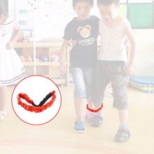 Baby Children Practical Toy Elastic Two People Three-legged Race Sport Rope Kids Cooperation Training Toys(China)