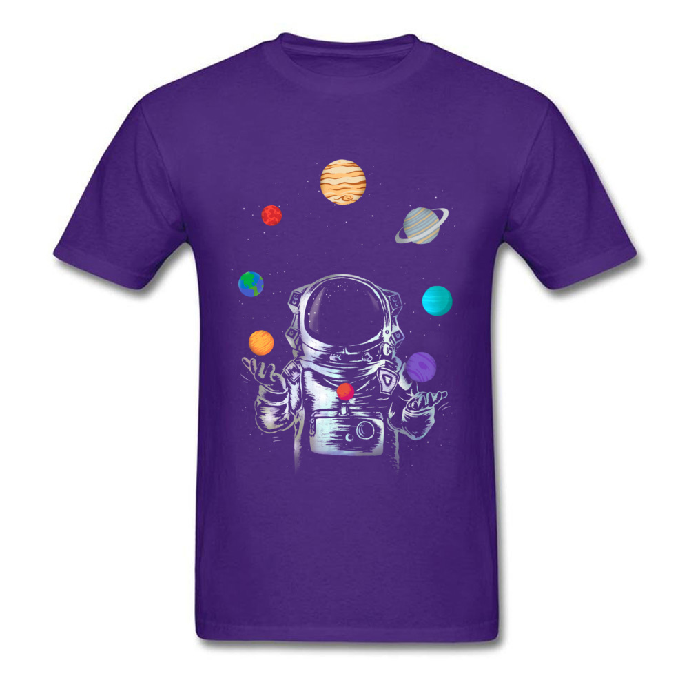 Space Circus Crazy Labor Day 100% Cotton Round Neck Male Tops & Tees Party T-shirts Plain Short Sleeve Tshirts Space Circus purple