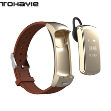 ToHayie X3 Bluetooth Smart wristband With Bluetooth Headset Answer/Dila Call Sports Track Pedometer bracelet For iPhone Android(China)