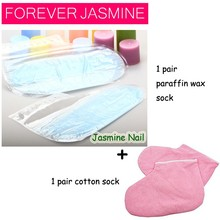 FOREVERJASMINE Rose Flavor Paraffin Wax Foot Pedicure Wax Sock Moisturing Feet Mask Personal Care Nail Treatment Cotton Mitt