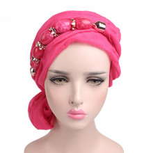 Women New Cotton Voile Bandana Turban Pendant Jewelry Scarf Hijab Headwrap Ladies Tassel Headscarf Turban(China)