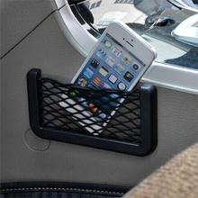 Dewtreetali New car styling 14.5*8.5 cm Universal Promotions Auto Car Seat Back Storage Net Bag Phone Holder Pocket Organizer(China)