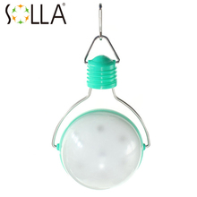 SOLLA LED Solar handing lamp Green Housing Solar Lamp Garden Light Outdoor for Emergency Waterproof rain(China)