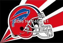 Buffalo Bills Helmet Lighting Flag 3ft x 5ft Polyester NFL Buffalo Bills Banner Size No.4 144*96cm QingQing Flag(China)