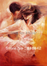 Wholesale ornament reproduction handmade wall art painting, good quality hot sexy kissing canvas painting
