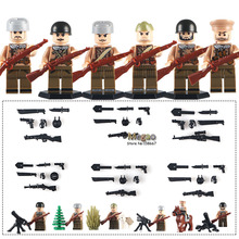 6pcs/lot D184 The Battle Of Kursk Russian National Army Military WW2 Kursk Campaign Soviet Building Blocks Bricks Toys(China)