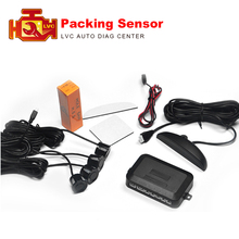 4 Parking Sensors LED Display Car Parking Sensor System with beep voice Car Reverse Backup Radar Kit 10 color choices