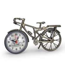 Classical European style Ingenious Bicycle Model Alarm Household Decoration  TableClock E5M1