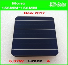 free shipping 21.6% high-efficiency 156mm 4BB monocrystalline  Mono solar cell  +enough  Tabbing Wire+5m Busbar +1pcs flux