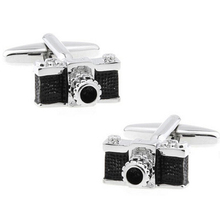 WN High-end material crystal black camera cufflinks wholesale cufflinks cuff nails French shirt(China)