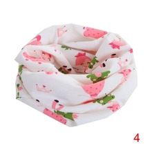 Winter Boys Girls Love Heart Cartoon Scarf Cotton O Ring Collars Children Accessories Neckerchief