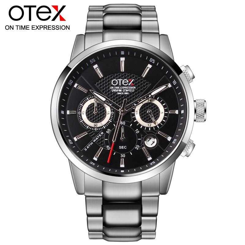 O4 fashion leisure and business men watch sports watches multifunction treadmill wirst quartz watch waterproof 30M<br>