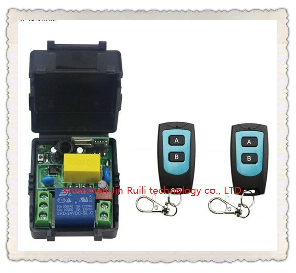Universal AC220V 1CH 10A Remote Control Switch Relay Output Radio Receiver Module and Waterproof Transmitter Toggle Momentary<br><br>Aliexpress