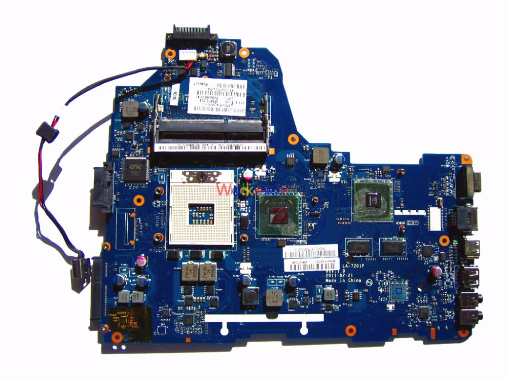 SHELI FOR Toshiba Satellite C660 Laptop Motherboard K000124380 PWWHA LA-7201P HM65 GT310M GPU DDR3 Test Oke
