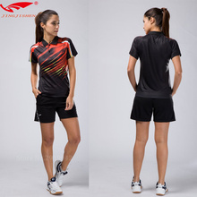 2017 Quick dry table tennis clothing women badminton shirt  badminton clothes (shirt + shorts) suits, lady sports fitness tennis