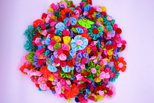 100pcs/lot multicoloured Fashion Pet Hair Accessories mix colour rose Brand New Lace Dog Hair rubber band Handmade Boutique Gift