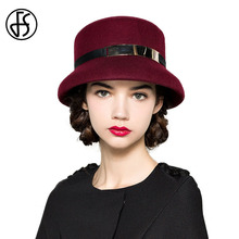 Queen Hat 100% Wool Floppy Fedora For Women Elegant Black Wine Red Blue Hat Lady Wedding Hats For Church Hat
