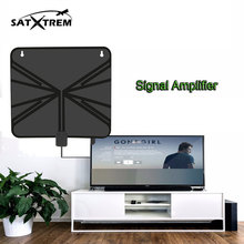 Spain offer Digital HDTV Antenna CTH-158A Flat Razor-Thin 50 Miles Range13ft coaxial cable For Android tv box dvb-t2 smart tv(China)