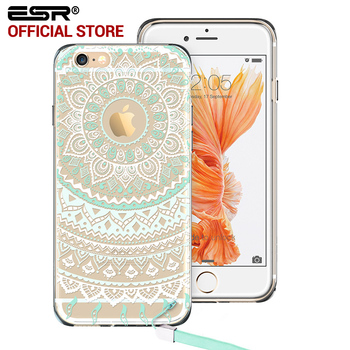 Case para iphone 6 6 plus, esr una pieza cubierta híbrida totem henna soft tpu duro volver case para iphone 6/6 s/6 s plus/6 Plus