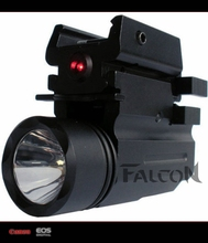 2in1 Tactical CREE LED Flashlight/LIGHT +Red Laser/Sight Combo for Shotgun Gl 17 19 22 20 23 31 37