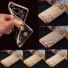 Flora Bling Diamond Case for Coque Samsung Galaxy J3 2016 Case Silicone Crystal Soft TPU Cover For Samsung J3 J5 A5 2017 S7edge