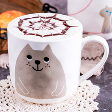 Cartoon Cute Cat Ceramic Unique Porcelain Tea Mug Creative Coffee White 330ML Cartoon Persian Cat Mug Milk Cup LJ156