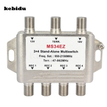 kebidu MS34EZ 3x4 Satellite MultiSwitch Splitter FTA TV LNB Switch Cascade satellite 3 in 4 Multiswitch For DVB-S2 DVB-T2(China)