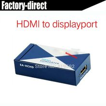 HDMI to Displayport DP AV converter HDMI in Displayport out with power adapter(China)